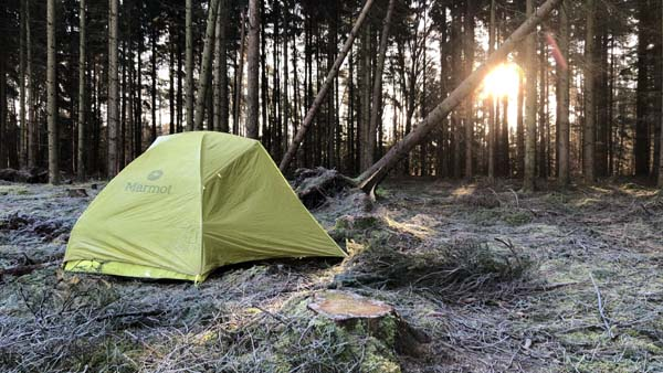 2. stay, wild camping near Soltau - E1