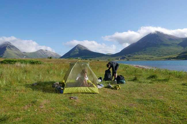 Camping-near-Torrin-at-Loch-Slapin